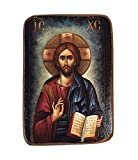 Greek Orthodox Christian Wood Icon of Jesus Christ / A02