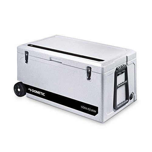 Dometic Cool-Ice WCI 85W, passiv-Kühlbox/Eisbox mit Rollen und Griff, 86 Liter, für Auto, Lkw, Boot, Camping, Ideal für Angler und Jäger
