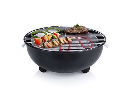 Barbacoa eléctrica Tristar BQ-2880 – Parrilla de mesa – Diseño redondo – Negro