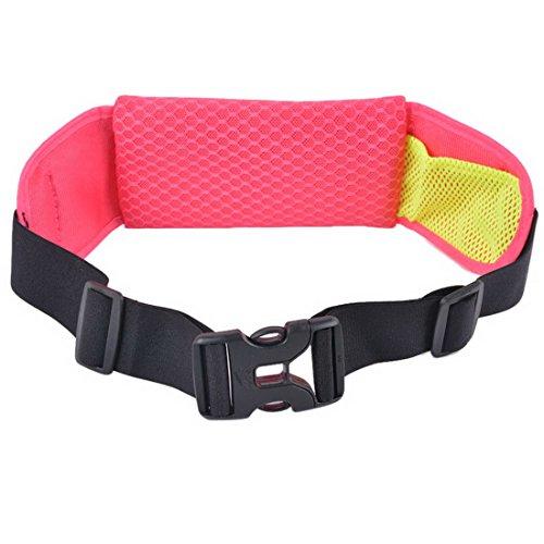 Wenyujh Damen Herren Unisex Gürteltasche Bauchtasche Hüfttasche Verstellbar Multifunktionen für Sport Reisen Outdoors Hot Pink