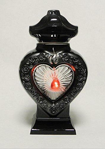 Grabschmuck Grablampe Grablicht Herz Schwarz KW-MP-016