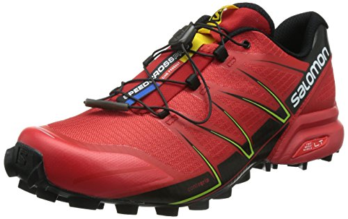 Salomon Speedcross Pro, Chaussures de trail homme Multicolore (Radiant Red/Black/Gecko Green)