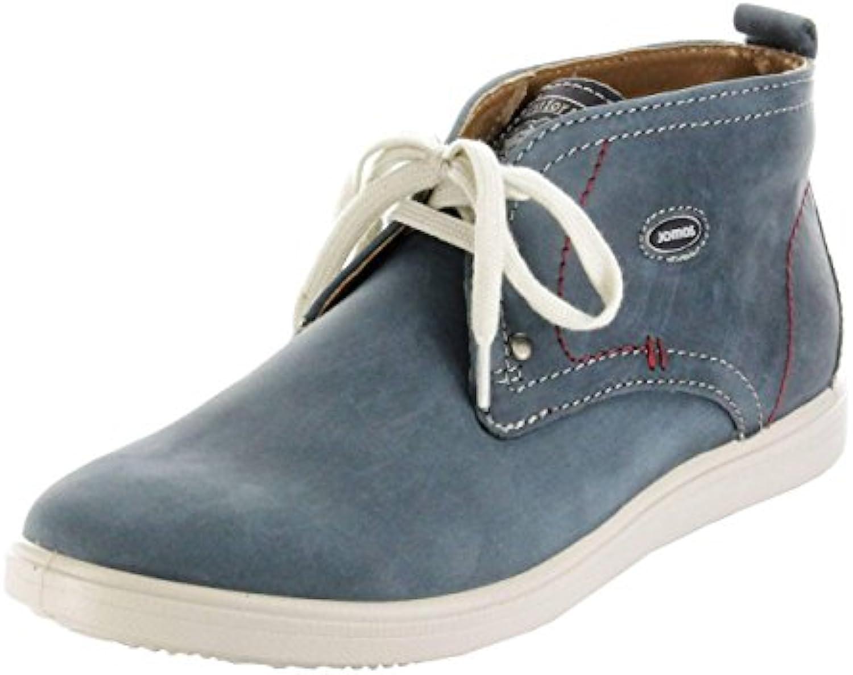 Jomos Halbschuhe Leder blau Sohle herausnehmbar Sneaker Herren 316304 12 840