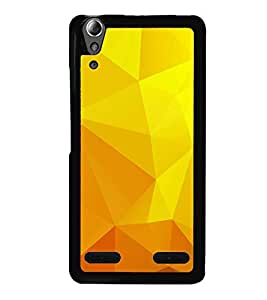 HiFi High Glossy Designer Phone Back Case Cover Lenovo A6000 Plus :: Lenovo A6000+ :: Lenovo A6000 ( Yellow Prisma Shape Funky Look )