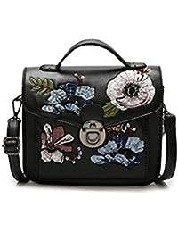 cb89b75879b16 Damen Vintage Handtasche Ethnischen Stil Bestickt Blumen Kleine Partei Tasche  PU Leder Schulter Messenger Bag