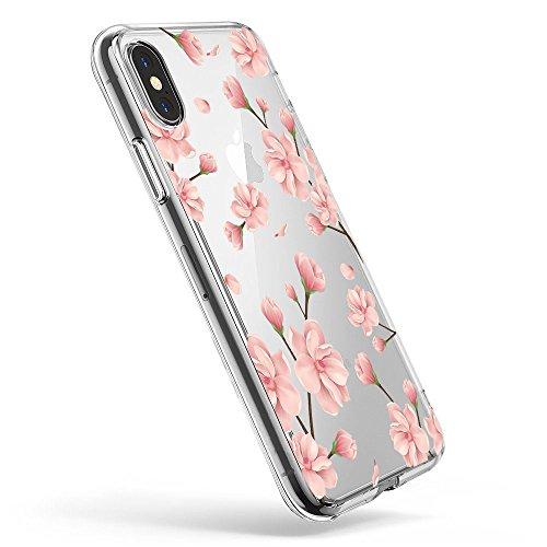 Pacyer iPhone X Hülle Silikon Ultra dünn Transparent Handyhülle Rückschale TPU iPhone X Schutzhülle für Apple iPhone X Case Cover Mädchen Elefant Federn (5) (Iphone Case Best)
