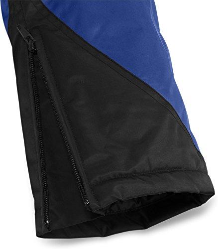Winter Thermohose Regenhose mit Hosenträgern rundum Wetterschutz dank hochgeschnittener Taille Schwarz