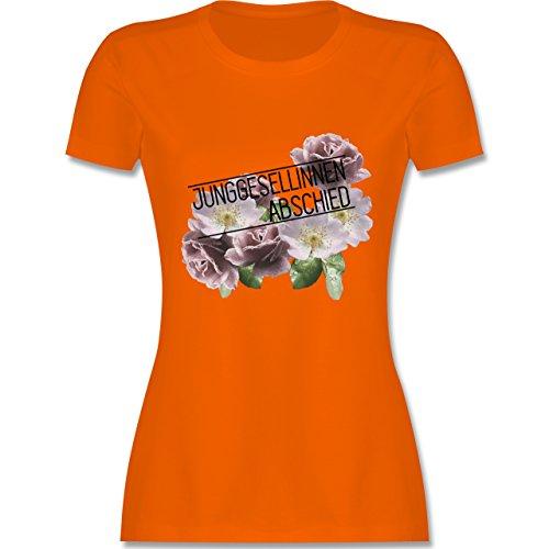 JGA Junggesellinnenabschied - Blumen Junggesellinnenabschied - tailliertes Premium T-Shirt mit Rundhalsausschnitt für Damen Orange