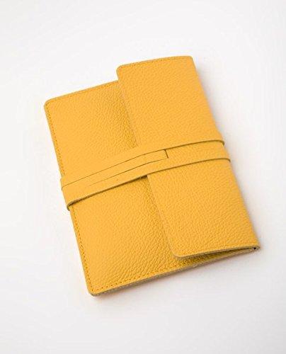 Preisvergleich Produktbild E-Reader-Ledertasche Fifth Avenue - goldgelb: Lederhülle passend für Tolino, Kindle, Sony, Kobo, Pocketbook etc.
