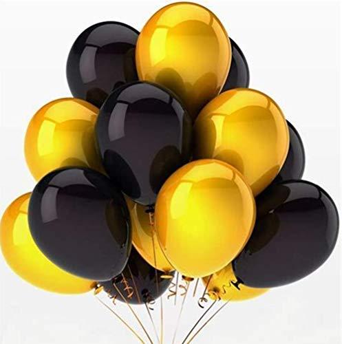 Oyfel Globos Negro Amarillo para Fiestas cumpleaños Bodas 13pcs
