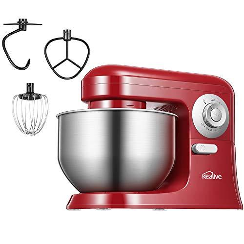 batidora amasadora, kealive amasadora de repostería profesional robot de cocina automática multifuncional 10 velocidades amasadoras de pan 5 litros
