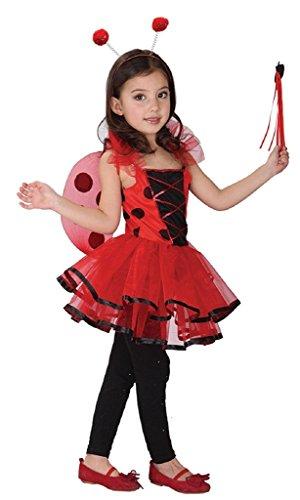 Imagen de jt amigo disfraz de mariquita para niña, talla 4 5 años alternativa