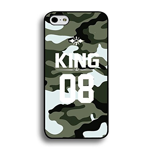 Fashion Camouflage Design King Queen Couple Phone Case Cover Solid Skin Protetive Shell for Iphone 6 Plus/6s Plus 5.5 Inch King Queen Lovers Classic Color191d
