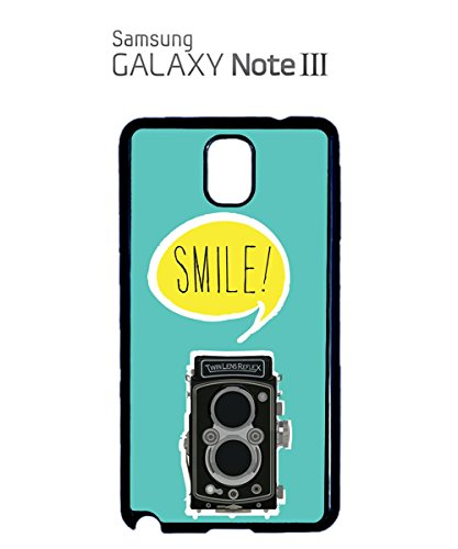 Retro Camera Smile Cheese 70's 80's Vintage Photo Machine Mobile Phone Case Samsung Note 3 White Noir