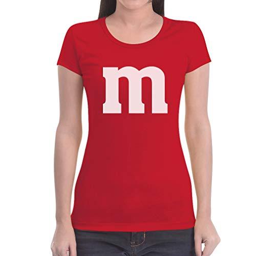 Süßes Outfit m Damen Karneval Fasching JGA Gruppen-Kostüme Frauen T-Shirt Slim Fit XX-Large Rot