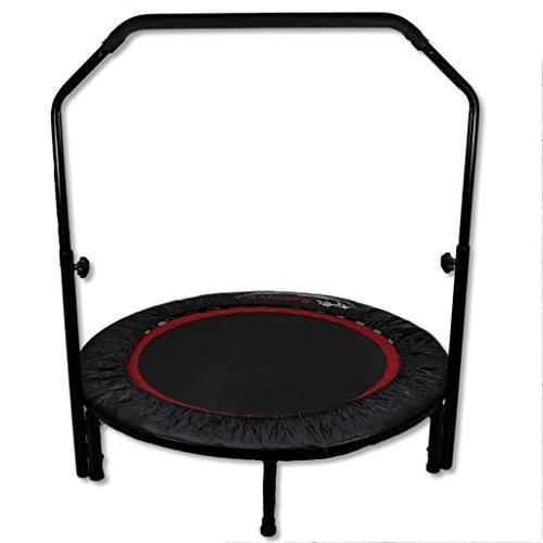 Fitness trampoline pliable avec poignée réglable