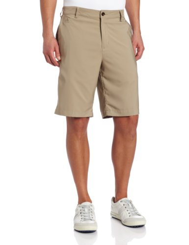 Golf Climalite (adidas Golf Climalite 3-Stripes Tech Shorts, Herren, Khaki, 30)
