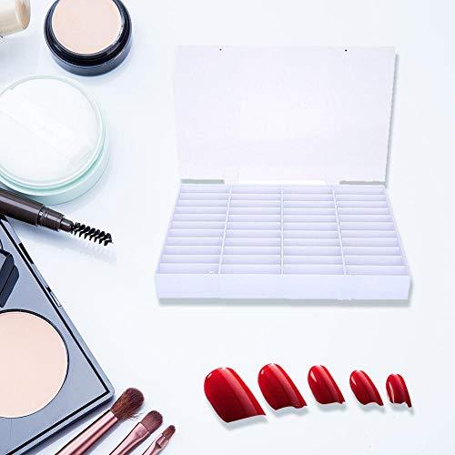 Acryl Nagel Aufbewahrungsbox Einstellbar 44 Grid Nails Farbkarten Display Box zur Präsentation und Aufbewahrung von Nailart Strass Piercing uvm.