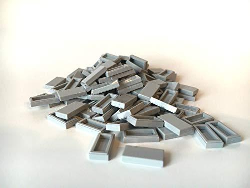 LEGO ® 100 Fliesen 1x2 in hell grau / Light Bluish Gray 1 X Light Light