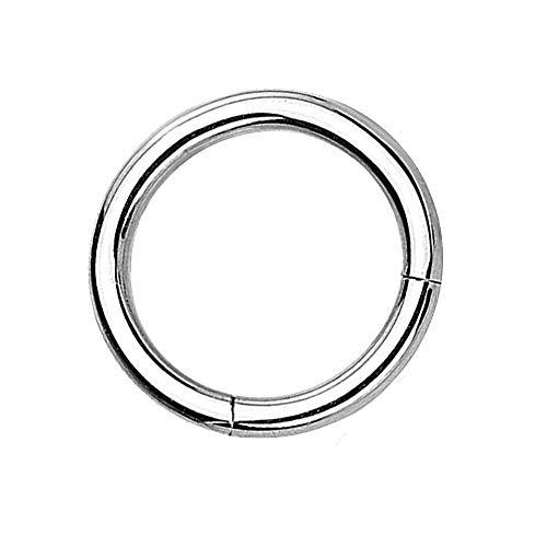 eeddoo Piercing-Ring Segment-Clicker Segment-Ring Silber Edelstahl 1,2 mm x 7 mm