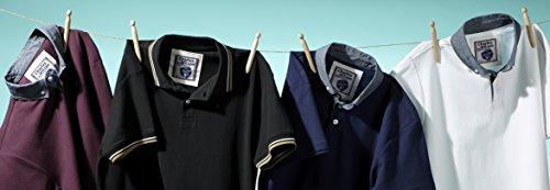 Charles Wilson Originals Twintip Piqué-Polohemd Schwarz & Blau