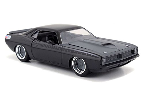 Jada Toys - 97195 MBK - Plymouth lettys Barracuda - Fast and Furious - 1970 - Maßstab 1/24 - Schwarz Matt