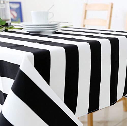 estreift Tischdecke Rechteck, 51x71in, Moderne Waschbar Tischwäsche Multi-größe Schmutzabweisend Staub-Beweis Für In Ihrem Zuhause Partei Picknick-130x180cm(51x71in) ()