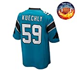 Fabric Fit Chemises à Manches Courtes Hommes/Femmes Kuechly NO.59 Entraînement de Football à Manches Courtes T-Shirt à séchage Rapide Jeux de Sport Maillot,Ils-Bleu-XL