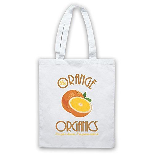 Inspiriert durch Pugwall The Orange Organics Inoffiziell Umhangetaschen Weis