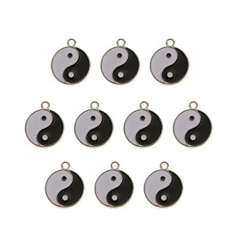 Gazechimp 10 Stück Kreis Diagramme Anhänger Für Schmuck DIY Basteln (Das Diagramm)