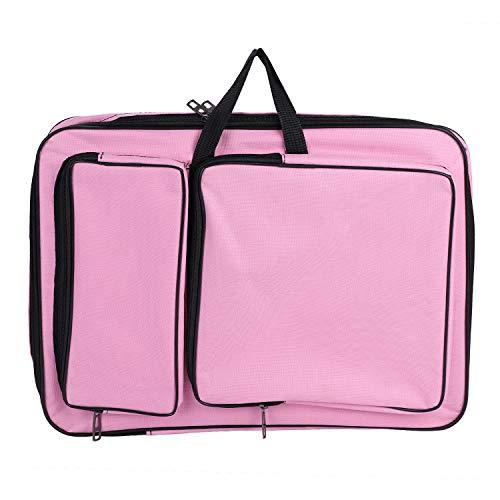 Zeichentasche A3 Transporttasche für Zeichenbrett Wasserdichte Zeichnungsmappe mit Schultergurt Tragbare Künstlermappe für Erwachsene Kinder Multifunktionale Kunstmappe für Kunst Malerei - Tasche Zeichenblock