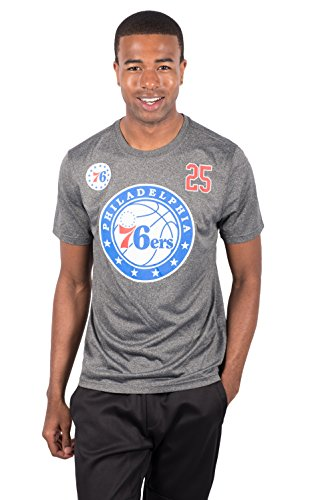 Unk NBA Ben Simmons Philadelphia 76ers Herren T-Shirt Short Sleeve Tee Shirt, Herren, DTM5420S-PHBS-Large, Heather Charcoal, Large - Ben Short Sleeve T-shirt