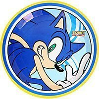 Sonic The hedgehog 8-Pack Paper Plates (Alvin Chipmunk-party)