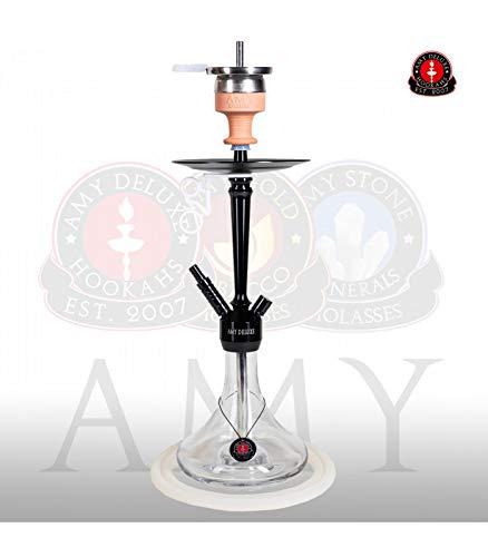 AMY Shisha Alu Deluxe S 066.02 - black clear   Wasserpfeife Hookah von Amy Deluxe