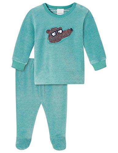Schiesser Jungen Zweiteiliger Schlafanzug Baby Anzug 2-teilig, Blau (Türkis 807), 86 (Herstellergröße: 086)