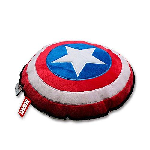 en - Captain America - Logo Shield - 35 cm (Black Panther Marvel Kostüm Film)