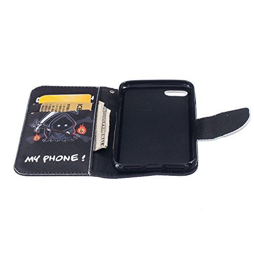 MOONBAY MALL Premium Housse en PU Cuir Portefeuille Etui Housse Flip Case pour Apple iPhone 5SE / iPhone SE / iPhone 5e avec fonction de support - Stylet & film de protection d'écran. BT-28 BT-09