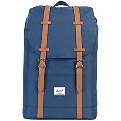 Herschel Supply Co. - mochila mediana, Navy/Tan Synthetic Leather (Azul) - 10329-00007-OS