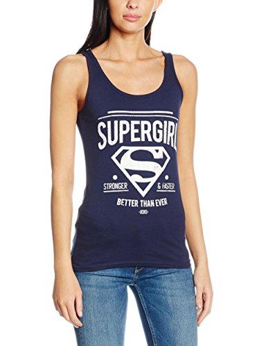 Supergirl Better Than Ever Top donna blu navy XL