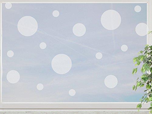 wandfabrik - Fenstersticker Punkte im Polka Dot Style 75 Stk - frosty - 798 - (Xt)