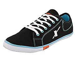 Sparx Mens Black and Sky Blue Casual Shoes (SM-283) (8 UK)