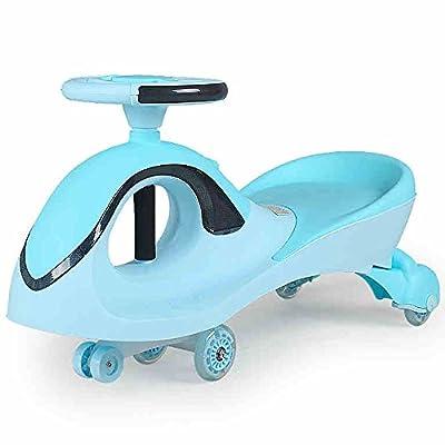 QFFL Niños Twist Car / Balance Car / Flash Mute Wheel / 1-3-6 años / Dos personas pueden sentarse Coche de niño