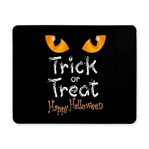 Luancrop Halloween-Dekoration Süßes oder Saures mit Katzenauge Rechteck rutschfeste Gummi-Mousepad Mauspads/Mauspads Fall Deckung mit Designs für Office Home Frau Mann Angestellter Chef Arbeit