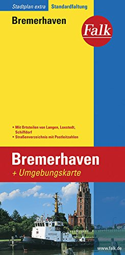 Falk Stadtplan Extra Standardfaltung Bremerhaven