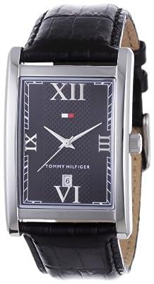 Tommy Hilfiger Franklin 1710175 - Reloj de caballero de cuarzo, correa de piel color negro