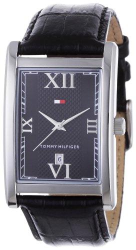 Tommy Hilfiger - 1710175 - Montre Homme - Quartz Analogique - Bracelet en Cuir Noir