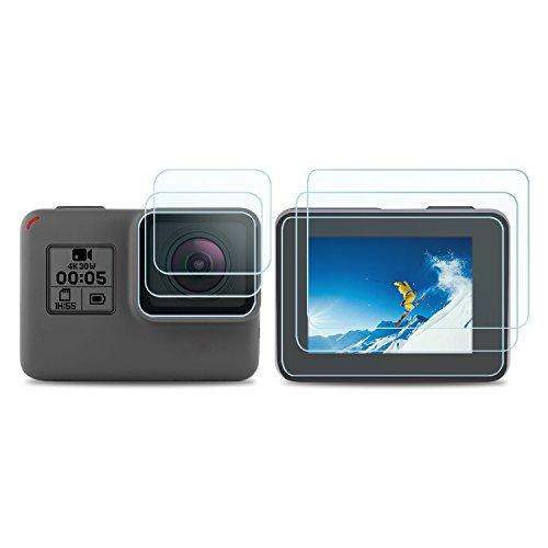 Descripción:  La película HD y el material anti-rasguño protegen la pantalla y la lente de tu cámara contra los arañazos, el polvo, los rasguños y las señales normales de desgaste.  Detalles del producto:  Dimensiones del producto: 17,2 x 5,1 x 0,8 c...