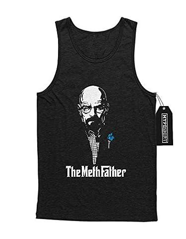 Tank-Top Breaking Bad Walter White Meth Father C980062 Schwarz M (Walt Breaking Bad Kostüm)