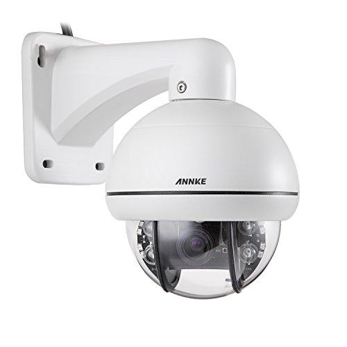 Annke - Digitale dello zoom ptz telecamera a circuito chiuso, ip66 resistente alle intemperie e la prova telecamera di sicurezza visione notturna superiore agli atti vandalici, 700tvl sony super had ccd 3x zoom ptz all