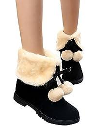 Paragon Moda Niña Mujer Botas de nieve totalmente alineada botas piel Caliente zapatos de invierno